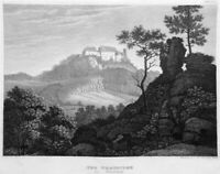 Germany WARTBURG CASTLE MARTIN LUTHER BIBLE TRANSLATED, 1837 Art Print Engraving