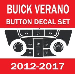 2012-2017 BUICK VERANO CXL 4D SEDAN A/C CLIMATE TEMPERATURE CONTROL BUTTON DECAL