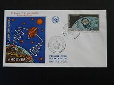 space satellite Telstar television FDC Saint Pierre & Miquelon 1962