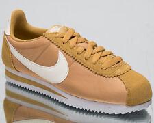 Nike Classic Cortez Nylon Women's New Gold Sail White Casual Sneakers 749864-701