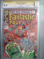 Fantastic Four Annual #6 CGC 9.4 SS **Signed Stan Lee & Sinnott** 1st Annihilus