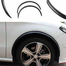 4x Carbon Fiber Car Wheel Eyebrow Arch Trim Lips Strip Fender Flare Protector