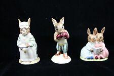 Royal Doulton England Cook, Knockout, Storytime Bunnykins Figurines