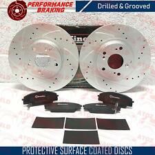 FOR HONDA CIVIC 2.0 TYPE R EP3 FRONT PERFORMANCE BRAKE DISCS BREMBO PADS SHIMS