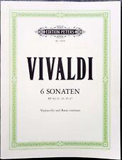 Antonio Lucio Vivaldi, 6 Sonaten (Violoncello und Basso continuo), Ed. Peters