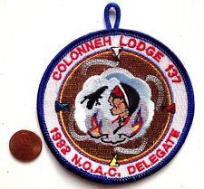 COLONNEH OA LODGE 137 SCOUT SAM HOUSTON WWW FLAP NOAC 1992 DELEGATE pocket patch