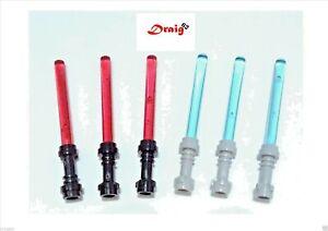 LEGO Star Wars - 6 x Minifigure Lightsabers