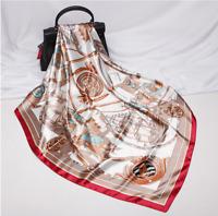 Multifunktionstuch Seidentuch Halstuch 90x90cm Schal Tuch Rot Damen Frauen N55