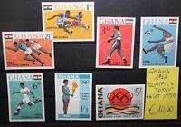 "FRANCOBOLLI GHANA 1964 ""OLIMPIADI / OLYMPICS TOKYO"" MNH** SET IMPERF. (CAT.X)"