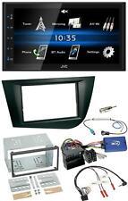 JVC USB 2din Bluetooth mp3 volante autoradio para Seat Leon 2005-2009 negro