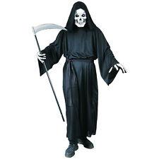 Adult Black Grim Reaper Fancy Dress Costume Halloween Grave Reaper Death