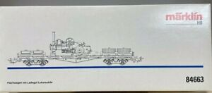 Marklin  84663.1  Flatcar with Disassembled Locomobile.