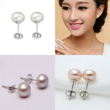 Women Pearl Earrings Charm Earring Freshwater Stud Party Accessories Lady Stud