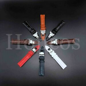 12-24MM Watch Band Strap Leather Alligator Deployment Clasp Fit MVMT Fashion New