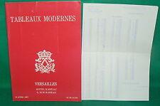 catalogue vente enchères VERSAILLES Tableaux modernes + liste prix de vente (10)