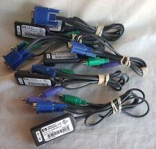 HP 286597-001 CAT5 PS2 VGA KVM-IP Interface Adapter Cables 520-290-002
