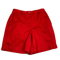 Liz Claiborne Lizsport Shorts Womens Size 8 Red Boardwalk Shorts Flat Front