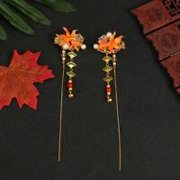 Cute goldfish Tassels Hairpin hair Stick for Kimono Hanfu COSPLAY