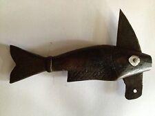 Antique Handcrafted Folk Art Small Carved Wood Fish Knife Blade Early