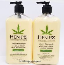 2 of Hempz Lotion Herbal Body moisturizer- SWEET PINEAPPLE & HONEY MELON -17oz