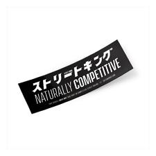"""""""naturalmente competitivo"""" JDM Slap Pegatina Deriva Japón coche decal"""