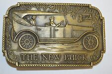 """Vintage The New BUICK """"1921"""" General Motors GM Brass Tone Belt Buckle Rare MINTY"""