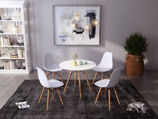Dining Table and 4 Chairs Eiffel Style Dining/living Room Office Bar 80cm Design