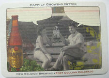 RAMPANT ALE Man & Woman @ Table Beer COASTER Mat POSTCARD New Belgium,, COLORADO