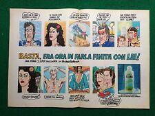 PY7 Pubblicità Advertising Clipping 35x24 cm (1985) - CLEAR ill. Andrea Pazienza