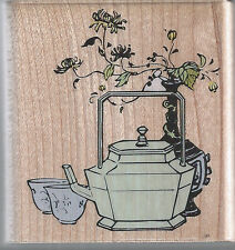 Thé rubber stampede asian tea wood mounted rubber stamp-env. 5.5 x 6 cm