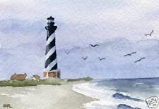 CAPE HATTERAS LIGHTHOUSE Giclee 5 x 7 Art Print Signed by Artist DJR