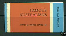 1968 Australia Sc 446a-449a Complete Booklet Mnh - Famous Australians
