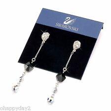 signed Swarovski~Crinkle ~ lovely dangle EARRINGS ~ New ~ $100