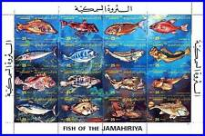 LIBYA 1983 FISH / FISHES / MARINE LIFE M/S SC#1107 MNH folded (3ALL)
