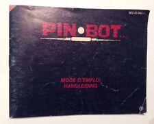 A SAISIR RARE NOTICE EN FRANCAIS POUR CONSOLE NINTENDO NES : PIN BOT !!!
