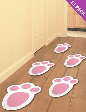 15 EASTER BUNNY FEET FOOTPRINTS EGG HUNT GAME PARTY RABBIT PAW PRINTS DECORATION