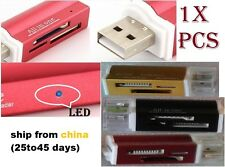 ALLinONE 1x TopQuality Micro sd standard card ALUMINIUM USB key adapter Reader