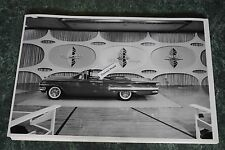 """12 By 18"""" Black & White PICTURE 1960 Chevrolet Impala 2 door convertible"""