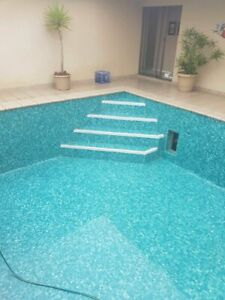 Glass mosaic tiles for swimming pools -  FIJI - Solid Finish