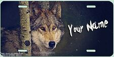 WOLF PAINTING ART License Plate, can be personalized  Made in USA