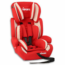 Autokindersitz Autositz Kinderautositz mit Extrapolster 9-36kg Gruppe 1+2+3 Rot