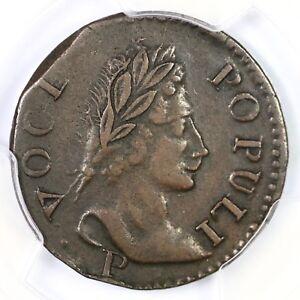 1760 N-14 PCGS XF 40 Voce Populi Colonial Copper Coin 1/2p