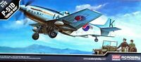 "Academy 1:72 P-51D ""Korean War"" Aircraft With Jeep Ground Vehicle Model Kit"