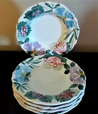 "Fortebraccio Ceramiche Italy Flora 10"" Individual Pasta Bowl x5 Floral on Rim"