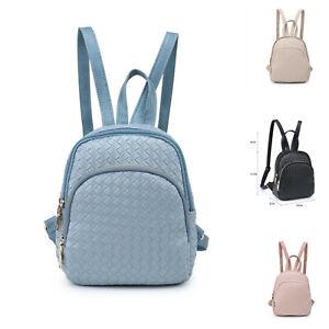 Cute Adorable Woven Pattern Mini Small Back Bag Girl Women Faux Leather UK