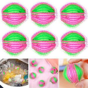 6X Reusable Washing Machine Balls Hair Lint Fluff Grabbing Remover Laundry Tool