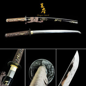 Clay Tempered L6 STEEL Wakizashi Sword Japanese katana Sword Full Tang Blade new