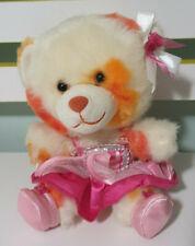 SMALL FRYS BUILD A BEAR BEAR WHITE AND ORANGE IN DRESS! 16CM