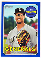 Jon Duplantier Generals 2018 Topps Heritage Minor League Blue /99 + Base 13 Rice