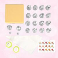 20PCS Russian Tulip Flower Cake Icing Piping Nozzles Decorating Tips Baking Set